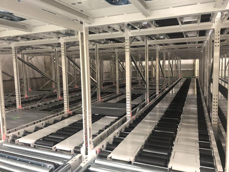 合成樹脂メーカーのパレット保管倉庫